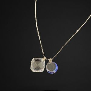 Jewelry - Sterling Silver Necklace With Crystal Pendents